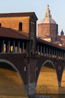 Pavia - Ponte Coperto e Duomo von Pier Giorgio  Mariani