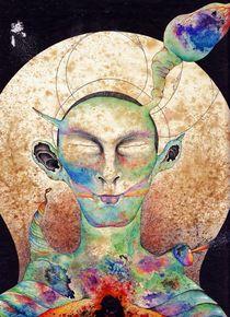 Cosmic Human, meditating for a better WORLD. von friedrich stumpfi