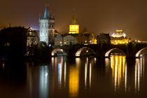Charles Bridge at Night von Evren Kalinbacak