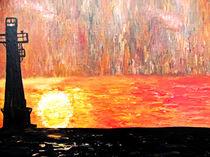 Sunset Lighthouse von Angela Pari Dominic Chumroo