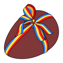 Easter chocolate egg - Colored ribbon von William Rossin