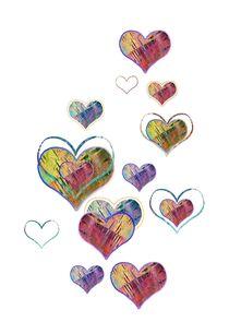 raining hearts 1 by claudiag
