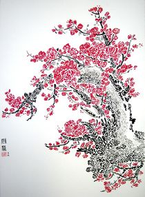 Peach Blossoms von Dexter  Chu