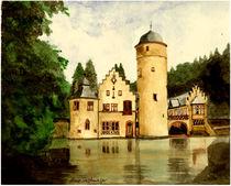 Schloß Mespelbrunn  Aquarell von Marie Luise Strohmenger