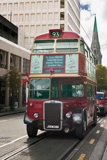 Red Bus, Christchurch New Zealand by Stephen Mole
