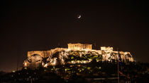 Acropolis Under A Crescent Moon by Graham Prentice