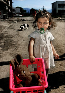 Girl in a ghetto. by Peter van Beek