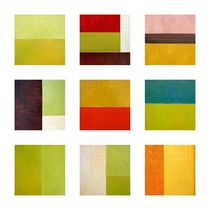 Color Study Abstract Collage von Michelle Calkins
