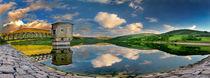 Talybont Reservoir Reflection by Nigel Forster