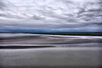 Low tide in Normandy from Mont Saint Michel by Pier Giorgio  Mariani