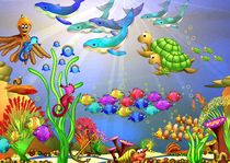 bunte Korallenriffvielfalt by Hildegard Maria Endner