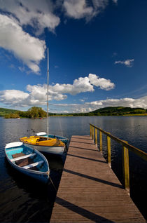 Llangorse Lake Mooring by Nigel Forster