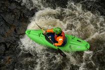 Green Kayak Paddling by serenityphotography