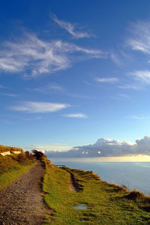 Blue Skies over the White Cliffs of Dover by serenityphotography
