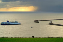 Ferry Approaching England by serenityphotography