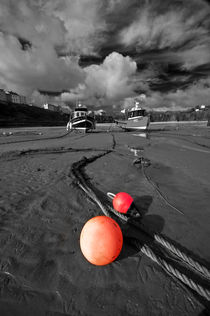 Mooring Bouys, Tenby by Nigel Forster