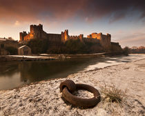 Pembroke Castle Winter Landscape by Nigel Forster