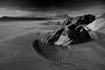 Whitesands Bay in monochrome by Nigel Forster