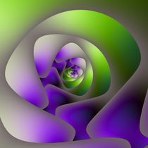 Spiral Labyrinth in Green and Purple by objowl