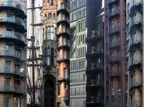 Fassadenabschnltte aus der Hafen-City/Speicherstadt von hamburgart