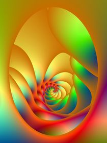 Psychedelic Oval Spiral by objowl