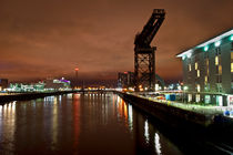 Finnieston Crane at Night by Karen Brodie