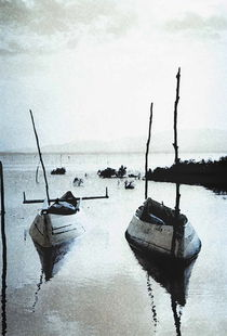 Dojran boats by Georgi Koncaliev