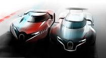 Bugatti Sketch von Valery Golubev