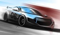Sportcar Sketch von Valery Golubev