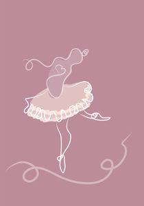 Dancing ballerina. von Sofia Wrangsjö