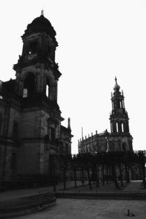 Dresden Schwarz Weiß Bild - Schwarz Weiß Fotografie aus der Landeshauptstadt des Freistaates Sachsen von Falko Follert