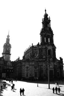 Dresden Schwarz Weiß Bild - Schwarz Weiß Fotografie aus der Landeshauptstadt des Freistaates Sachsen 2 von Falko Follert