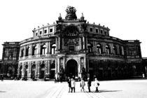 Dresden Schwarz Weiß Bild - Semperoper von Falko Follert