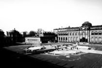 Dresden Zwinger black and white photograph from the state capital of Saxony, Germany von Falko Follert