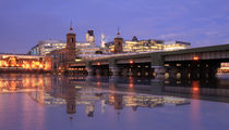 London Skyline reflections  by David J French