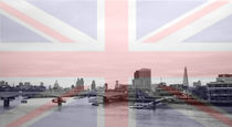 London Skyline Union Jack Flag  by David J French