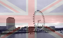 London Skyline Union Jack Flag  von David J French