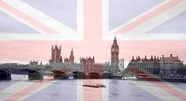 London Skyline Union Jack Flag  by David J French