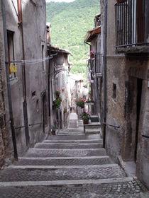 Italian village street by Alberto Vaccari