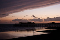 Hastings Pier - Purple Sunset by Dawn OConnor