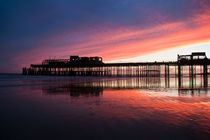 Hastings Pier After The Fire by Dawn OConnor