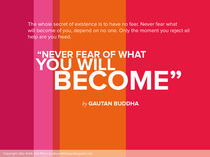 Never Fear - Buddha Poster von Jaky Astik