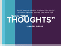 Mind Your Thoughts - Buddha by Jaky Astik