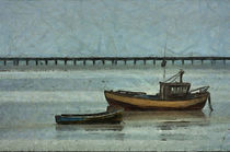 Fishing Boats and Southend-on-Sea Pier von Dawn OConnor