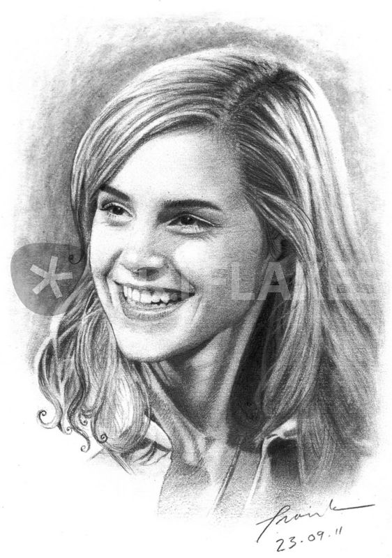 how to draw emma watson as belle step by step