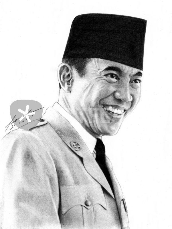 Ir Soekarno Drawing Art Prints And Posters By Frank Go Artflakes Com