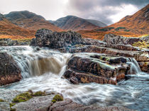 Waterfall On The River Etive von Amanda Finan