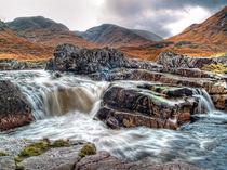 Waterfall On The River Etive by Amanda Finan