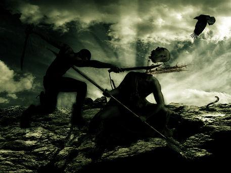 Death-match-warrior-silhouette
