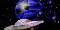 Ferne, blaue, extra - terrestrische Welt. von Bernd Vagt